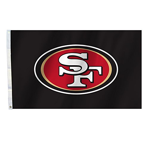 NFL San Francisco 49Ers 3 Ft. X 5 Ft. Flag with Grommets, Red, ()