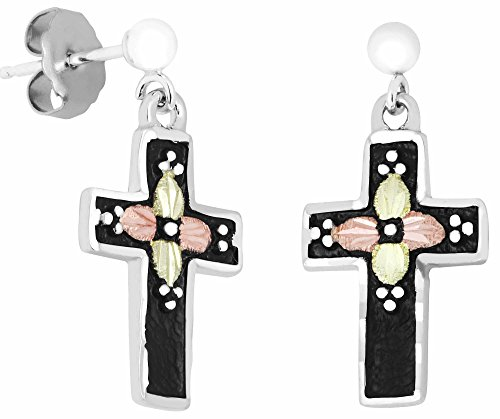 Antiqued Silver Cross Earrings by Black Hills Gold Jewelry