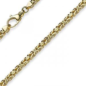 3,5 mm collar de 750 oro, 50 cm, unisex