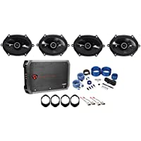 1999-2003 Ford F-150 Kicker 6x8 Factory Speaker Replacement Kit+4-Ch Amp
