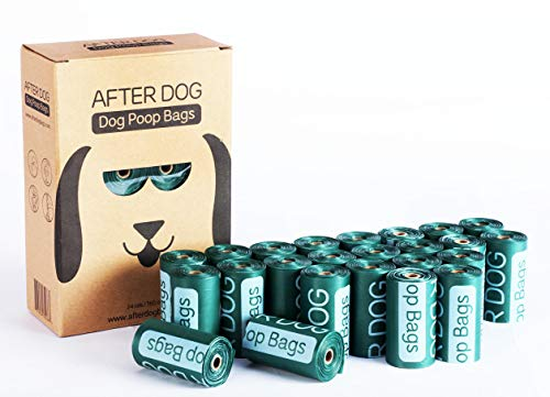 After Dog Unscented Dog Poop Bags for Pet Waste,OXO-Biodegradable,24 rolls/360 Counts,Refills