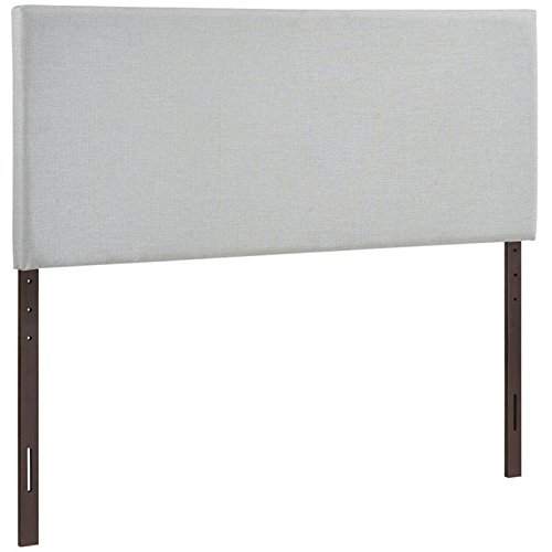(Hawthorne Collections Upholstered King Panel Headboard in Sky Gray )