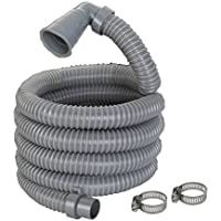 13ft Long Replacement Washing Machine Drain Discharge Hose 90 degree Elbow with 2 clamps,4 Meter Length