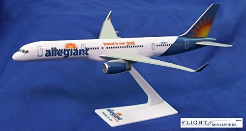 Allegiant Air 757 200 Airplane Miniature Model Plastic Snap Fit 1 200 Part  Abo 75720H 059