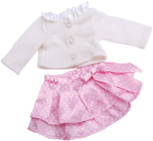 Fiber Craft Springfield Collection Party Outfit Pink Skirt/White Top for Doll, Baby & Kids Zone