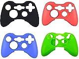 xbox 360 silicone controller skin - Xbox 360 Case Soft Silicone Protective Skin Case Cover for Xbox 360 Controller Rubber Protector Shell Case for Xbox 360 Gamepad(4 pcs)