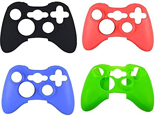 ilicone Protective Skin Case Cover for Xbox 360 Controller Rubber Protector Shell Case for Xbox 360 Gamepad(4 pcs) ()