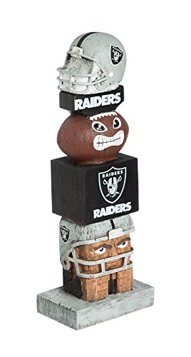 Used, Evergreen NFL Oakland Raiders Tiki Totem for sale  Delivered anywhere in USA