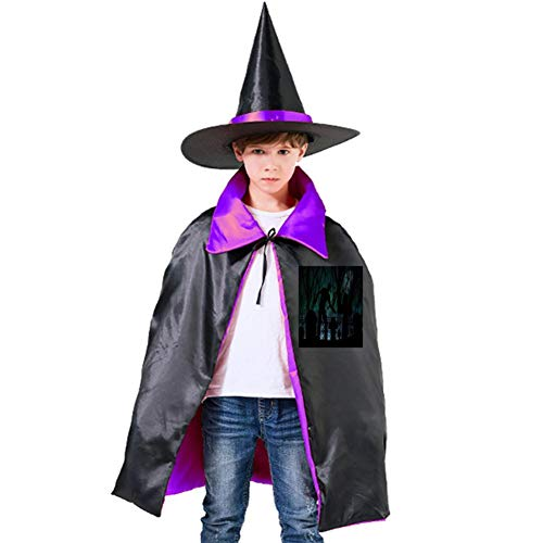 (The Corpse of The Cemetery Halloween Shawl and Witch Hat for Children Kids)