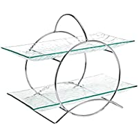 Harmony 7/8 Plus 6D Serving Tray Set With Stand 3 Pieces, 2P-12-18-S29, Clear, Glass