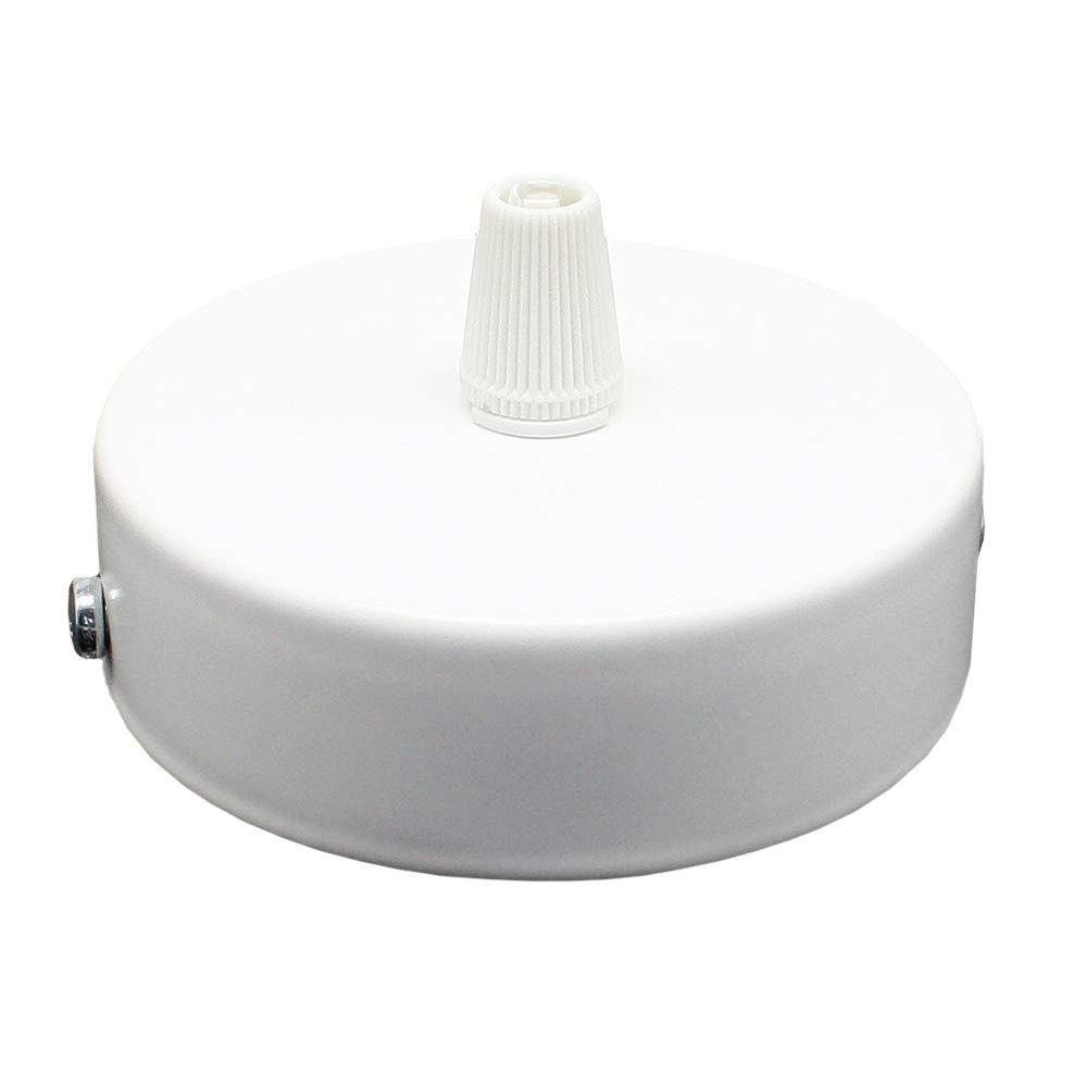 Boîte de jonction en métal blanc avec accessoires ø 80 x 25 mm - Boîte de distribution pour montage en saillie avec soulagement de plafond pour lampes suspendues et lampes suspendues C. Palme Leuchten