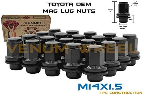 Venum wheel accessories 20 Pc 5x150 MM OEM Factory Mag Lug Nuts M14x1.5 Works with 2007-2018 Toyota Tundra