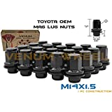Venum wheel accessories 20 Pc Black Mag Lug Nuts OEM Black Factory M14x1.5 Works with Toyota & Lexus Tundra Sequioa Land Cruiser LX 470 LX 570