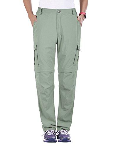 Unitop Women's Quick Dry Convertible Climbing Pants Light Light Green L