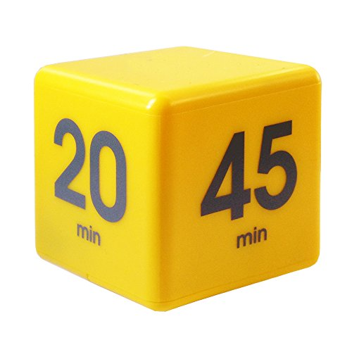 Price comparison product image The Miracle Cube Timer, 5, 10, 20 and 45 Minutes, for Time Management, Kitchen Timer, Kids Timer, Workout Timer, Yellow