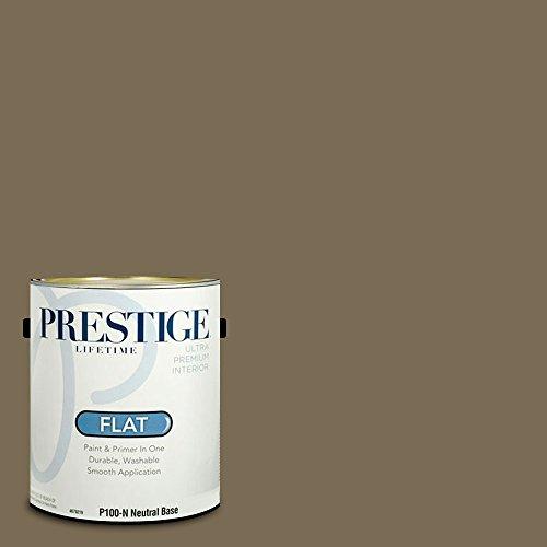 (Prestige Paints P100-N-3007-9AVP Interior Paint and Primer in One, 1-Gallon, Flat, Comparable Match of Valspar Twilight Jungle, 1 Gallon, VS371-Twilight)