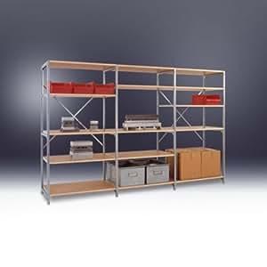 Manuflex - Planoflex anbauregal 5 estantes ral5007