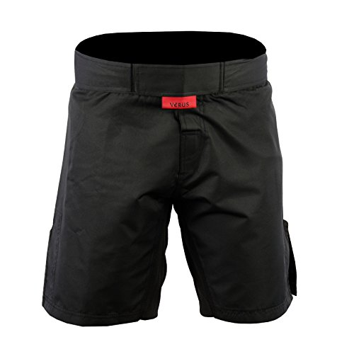Verus Kids Mixed Martial Arts MMA Short BJJ Training Muay Thai (Black, Medium)