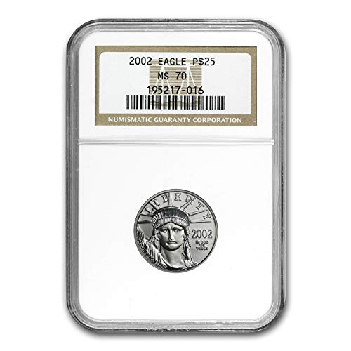 2002 1/4 oz Platinum American Eagle MS-70 NGC Piece MS-70 NGC