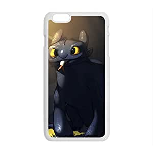 Lovely black greedy cat Cell Phone Case for Iphone 6 Plus