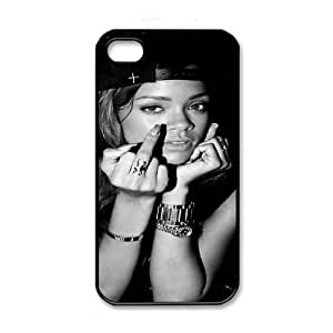 Rhianana iPhone 4 4s Black Cell Phone Case GSZWLW0080 Fashion Cell Phone Case