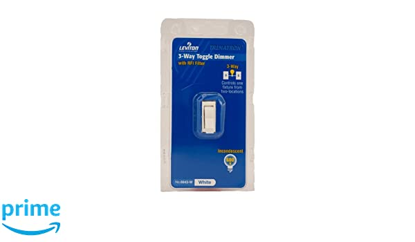 Leviton 6643 w 600w incandescent toggle dimmer 3 way white leviton 6643 w 600w incandescent toggle dimmer 3 way white lighting accessories amazon canada sciox Choice Image