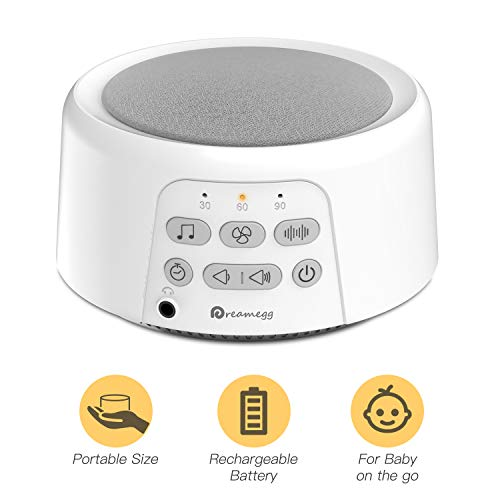 Dreamegg D3 White Noise Machine - Portable Sound Machines for Sleeping, 24 Non-Looping HiFi Sounds,...