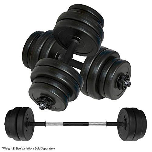 Body Revolution Dumbbell Set – Adjustable Dumbbells Weight Set with Barbell Link Accessories – Various Weights & Size…