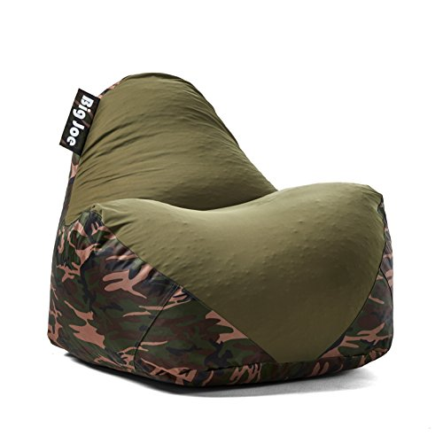 - Big Joe 1180287 Warp Bean Bag, Camo/Green
