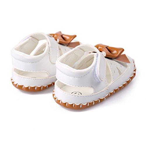 BOBORA Bebe Ninas Verano Zapatos Suave PU Sandalias Con Bowknot Zapatos Huecos caqui