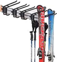 Homeon Wheels Ski Storage Rack, Premium Aluminum Tool Organizer Wall Mount, Ski Wall Rack for Cross Country Sk