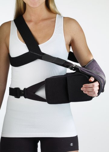 Corflex Ultra ER Shoulder Abduction Pillow with Sling-M - Black