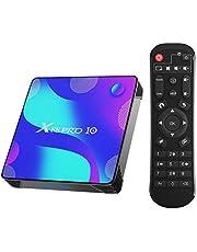 Android 10.0 TV Box, X88 Pro 10 TV Box 4GB RAM/32GB ROM RK3318 Quad-Core ondersteuning 2,4GHz / 5GHz WiFi Bluetooth 4.0, 4K HDMI Smart TV Box