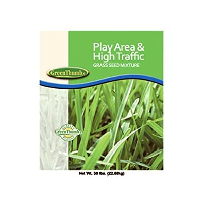 Barenbrug Usa 13086 Grass Seed, Play Area & High Traffic, 50-Lbs.