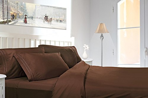 Comfort Egyptian 1800 Count 4 Piece Deep Pocket Bed Sheet Set (California King, Chocolate Brown) - Chelsea Keeper Jersey