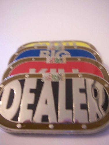 Dealer Button, Kill Button, Big Blind & Small Blind 4 pc set by pokerweights