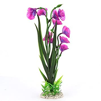 Las plantas flor de la decoración DealMux acuario de plástico de agua artificiales 37cm Altura Fucsia Verde: Amazon.es: Productos para mascotas