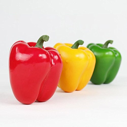Best Artificial 10cm Weighted Bell Pepper Vegetable Fruit (Green)