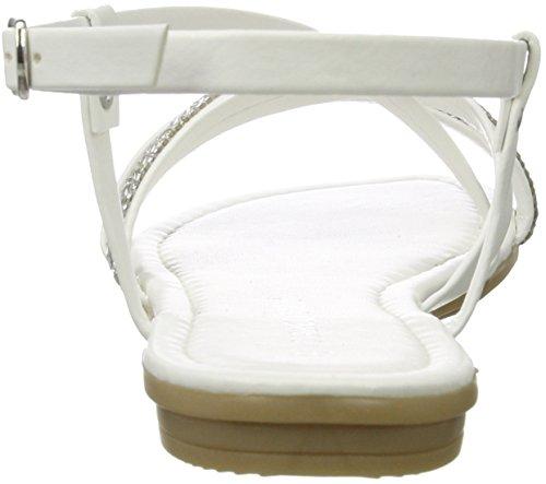 Tozzi Ouvert Bout 197 White 28125 Femme Blanc Marco Sandales Comb 6aqPwPd