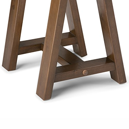 Simpli Home Sawhorse Solid Wood Wide Console Sofa Table, Medium Saddle Brown by Simpli Home (Image #3)