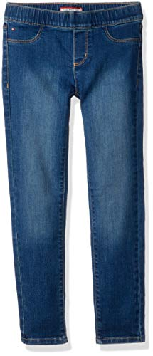 ive Girls' Big Jegging Jeans with Elastic Waist and Adjustable Hems, Keith wash, 4 ()