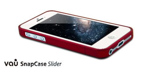 vau Snap Case Slider - matte red - zweigeteiltes Hard-Case für Apple iPhone 5 & iPhone 5S