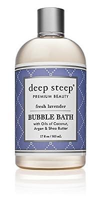 Deep Steep Bubble Bath Fresh Lavender 17 fl oz 503 ml