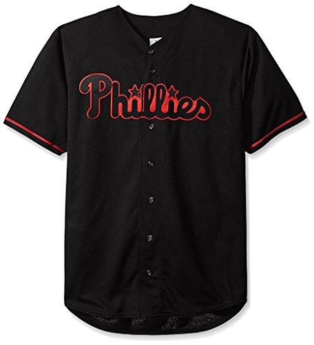 lies MLB Mens Majestic Black Fashion Jersey Big Sizes (3XL) ()