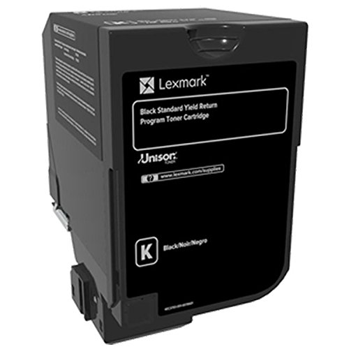Lexmark Black Return Program Toner Cartridge for US Government, 7000 Yield (74C0SKG)