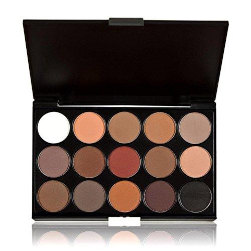 YJYdada 15 Colors Women Cosmetic Makeup Neutral Nudes Warm E