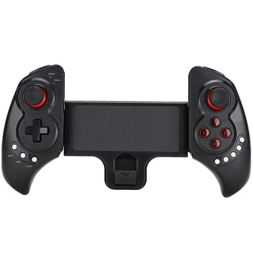 Mobile Game Controller, ABS Flexible Wireless Bluetooth Game Handle Shoot Aim Trigger Gamepad Grip for Mobile Phone…