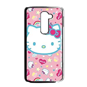 Hello Kitty Pink, Hearts & Rainbows LG G2 Cell Phone Case Black phone component RT_420516