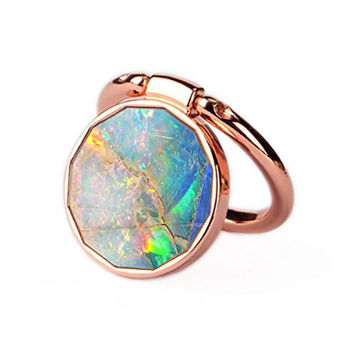 Phone Ring Holder Stand Rose Gold Oddss Blue Opal Marble Universal Thin Finger Ring Grip Ring Stand Grip Mount Compatible with iPhone XR XS Max 8 7 6s 6 plus Smartphones