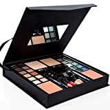ASSR All-in-One Makeup Kit, Starter Makeup Artist Set 24 Colors Eyeshadow Palette,2 Foundations,2 Blush,2 Brow Brush,1 Mascara,2 Eyeliners,2 Lipsticks,2 Nail Polishes,1 Eye Shadow Brush,1 Mirror